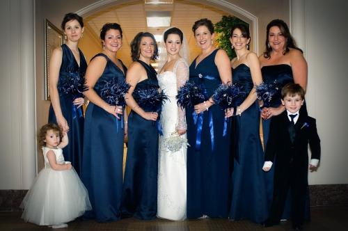 Gina & maids standing