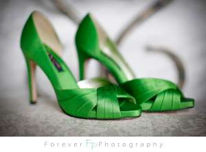 Green wedding shoes...